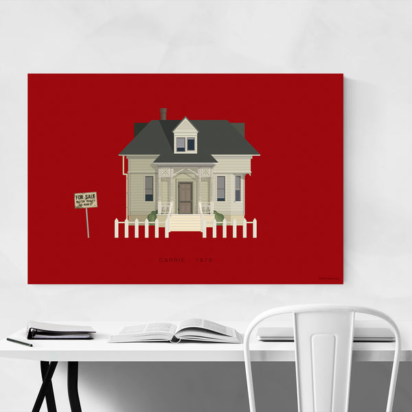 Carrie Movie TV Illustration Art Print