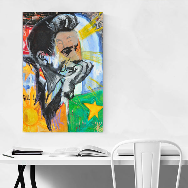 Johnny Cash Music Portrait Art Print