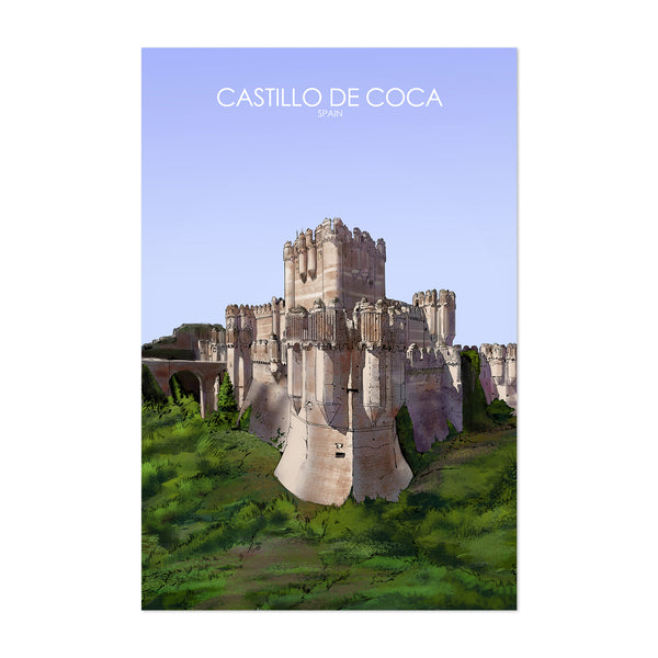 Castillo de Coca Spain Travel Poster Art Print