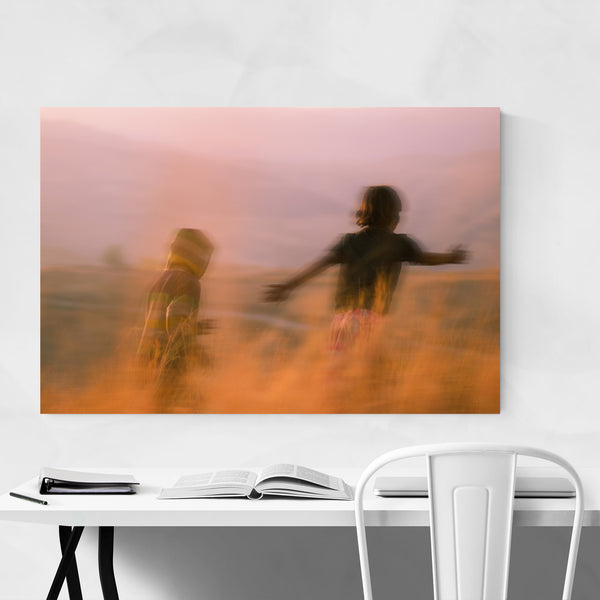 Abstract Figurative Countryside Art Print
