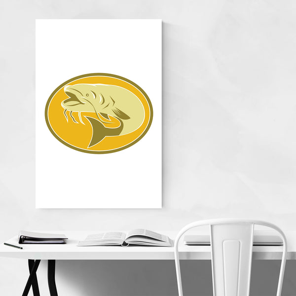 Catfish Art Deco Retro Art Print