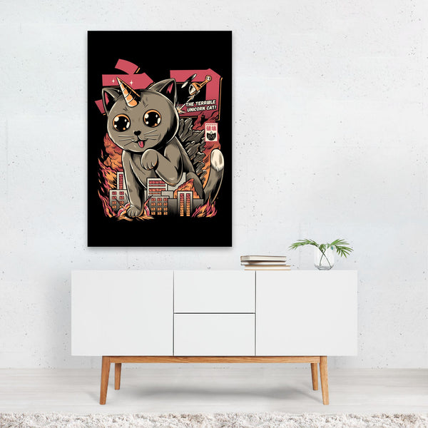 Animal Cat Urban Illustration Art Print