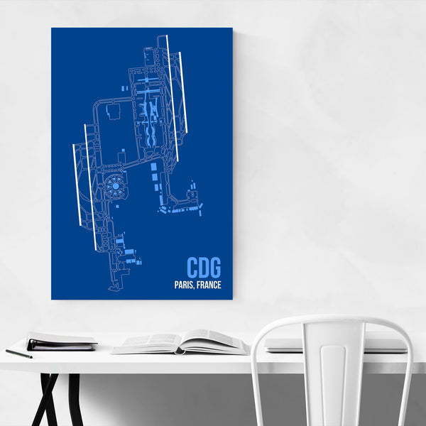 Paris France Airport Code Poster Art Print