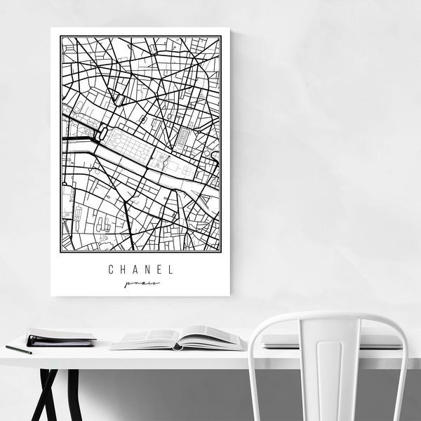 Paris France City Map Art Print