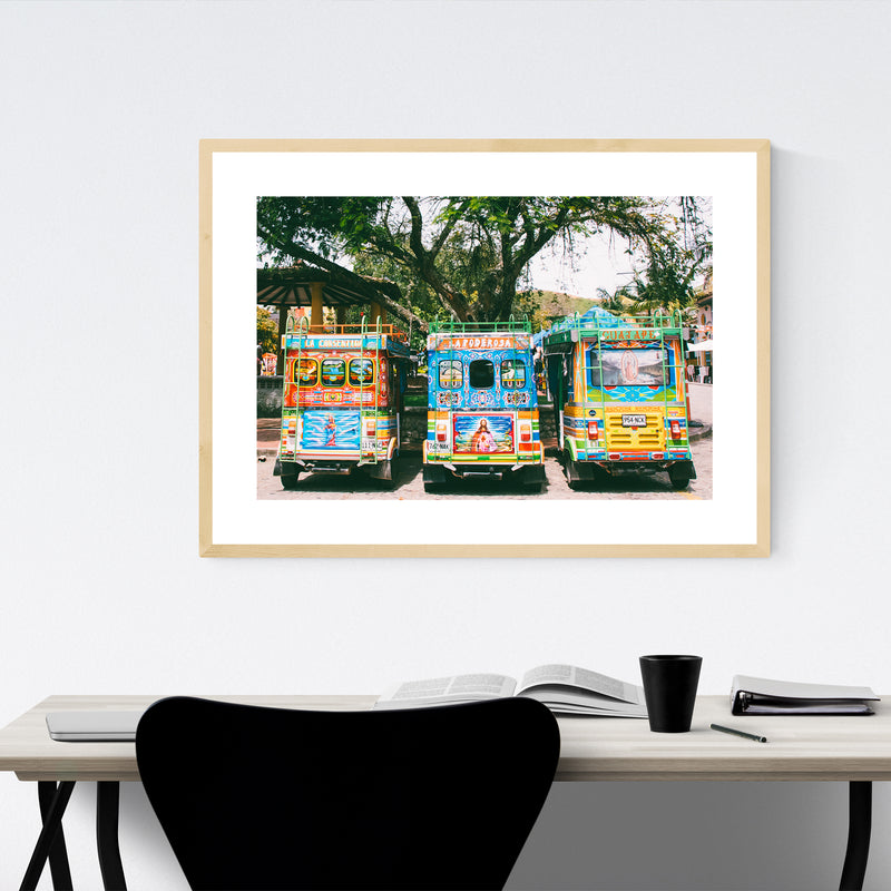 Salento Colombia Photo Framed Art Print