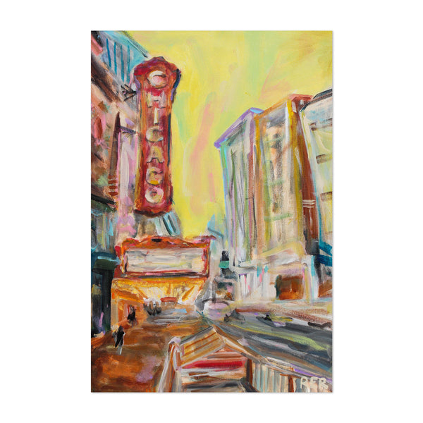 Chicago Theater Sign Painting Art Print