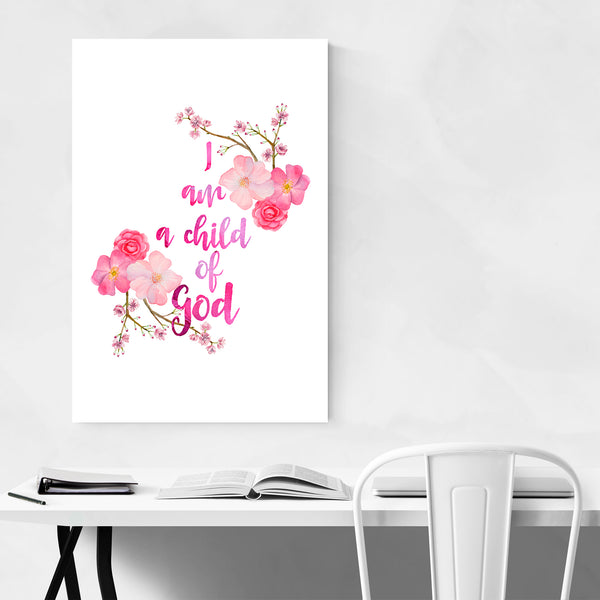 Child of God Bible Quote Art Print