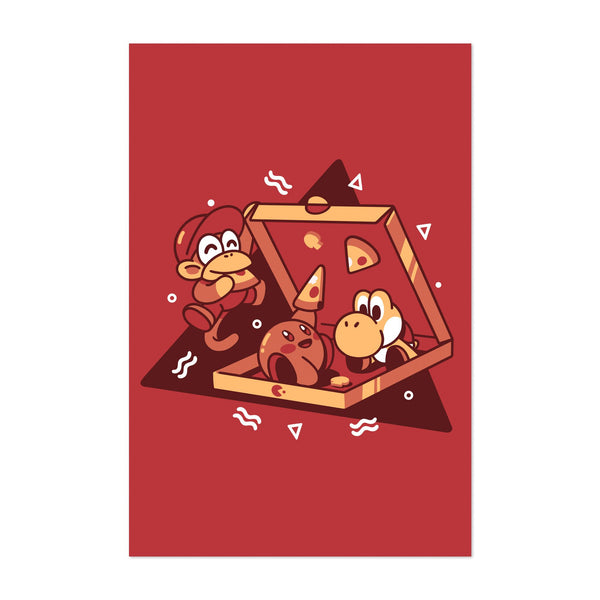 Diddy Kong Kirby Yoshi Illustration Art Print
