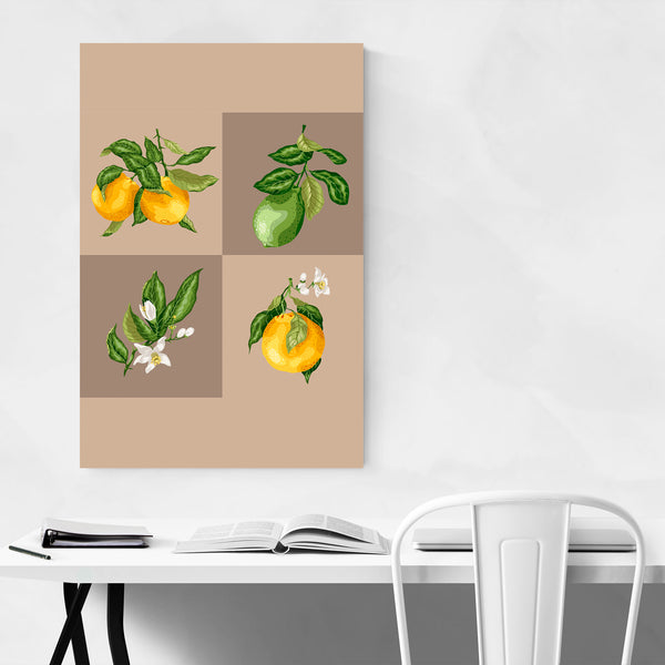 Orange Fruit Botanical Kitchen Art Print