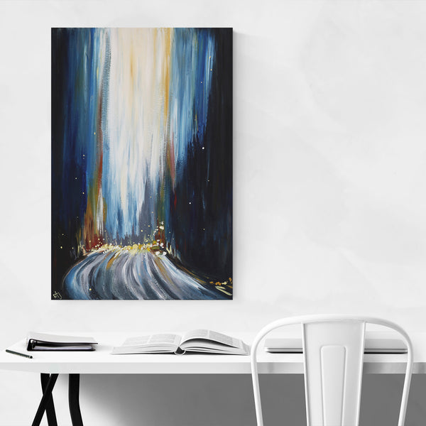 Urban Abstract Cityscape Painting Art Print