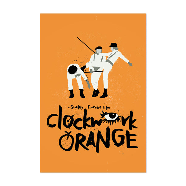 Clockwork Orange movie poster Art Print