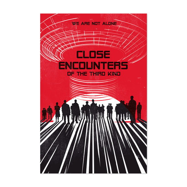 Close Encounters movie poster Art Print