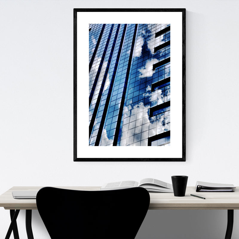 Philadelphia Urban Abstract Framed Art Print