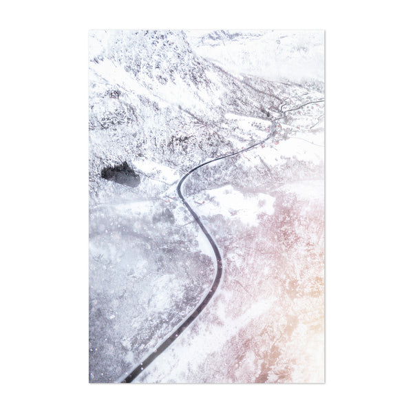 Røldal Norway Winter Forest Photo Art Print