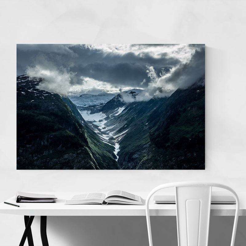 Mountains British Columbia Metal Art Print