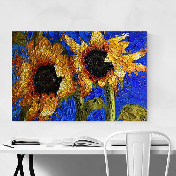 Sunflowers Nature Painting Art Print