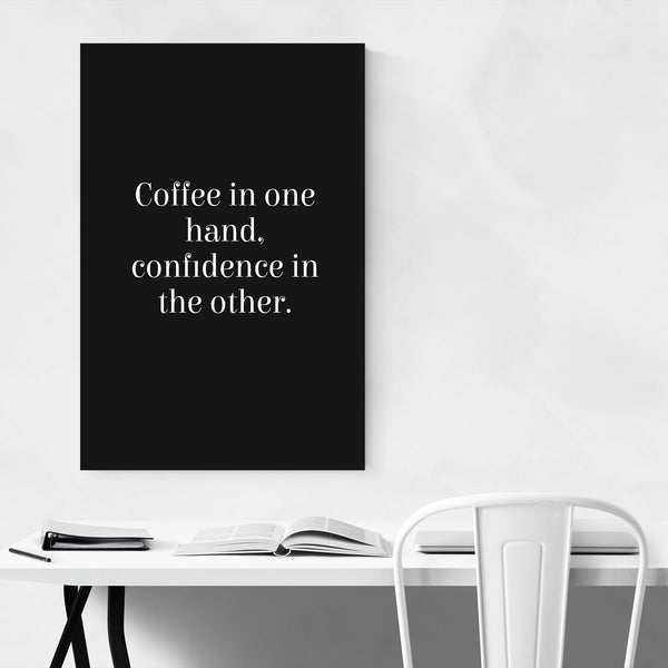 Coffee Inspirational Typography Art Print