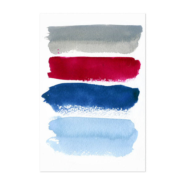 Abstract Colors Minimal Painting Art Print