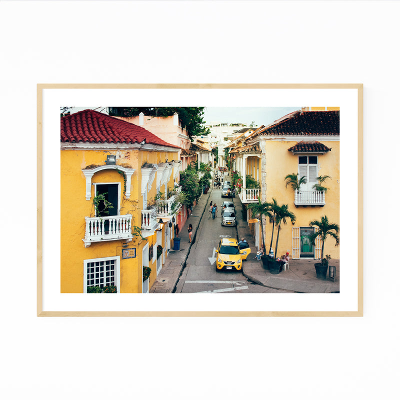 Cartagena Colombia Architecture Photo Framed Art Print