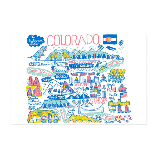 Colorado Travel Poster Art Print