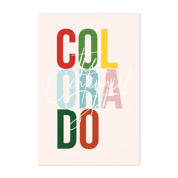 Colorado State Typography Art Print