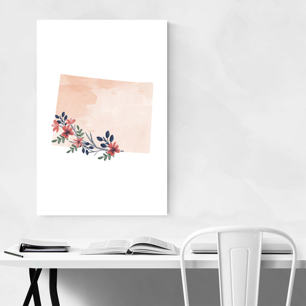 Colorado Floral State Map Art Print