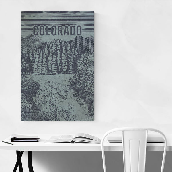 Colorado Nature Travel Poster Art Print