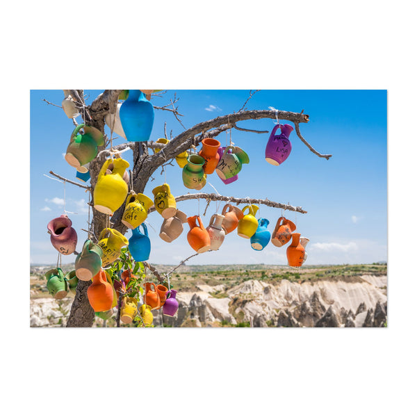 Göreme Turkey Pottery Nature Photo Art Print