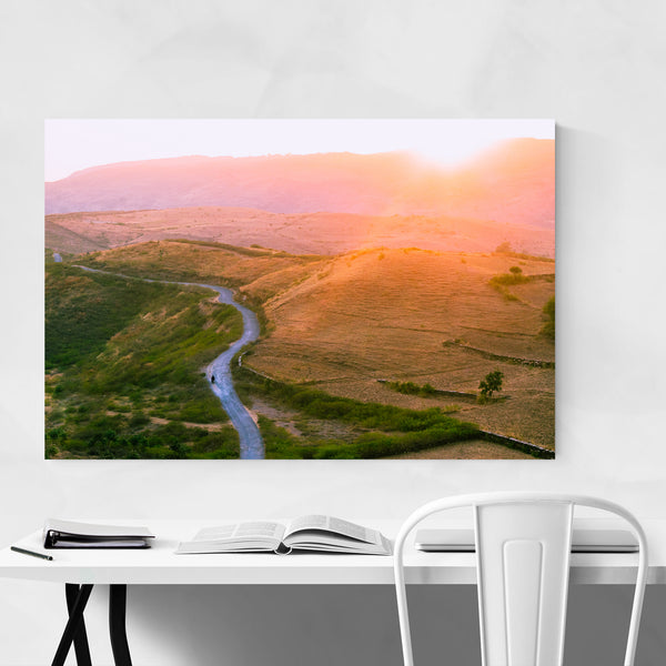 Udaipur India Mountains Nature Photo Art Print