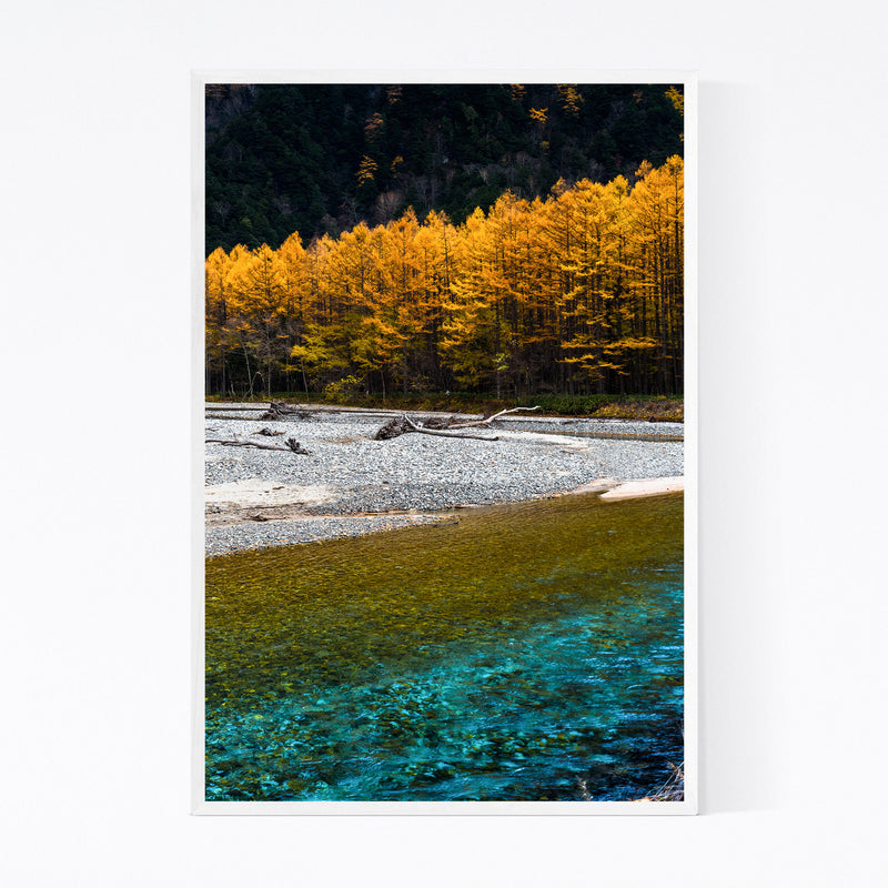 Japanese Alps Autumn Mountains Framed Art Print