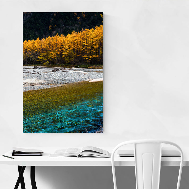 Japanese Alps Autumn Mountains Canvas Art Print