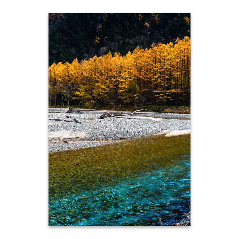 Japanese Alps Autumn Mountains Metal Art Print