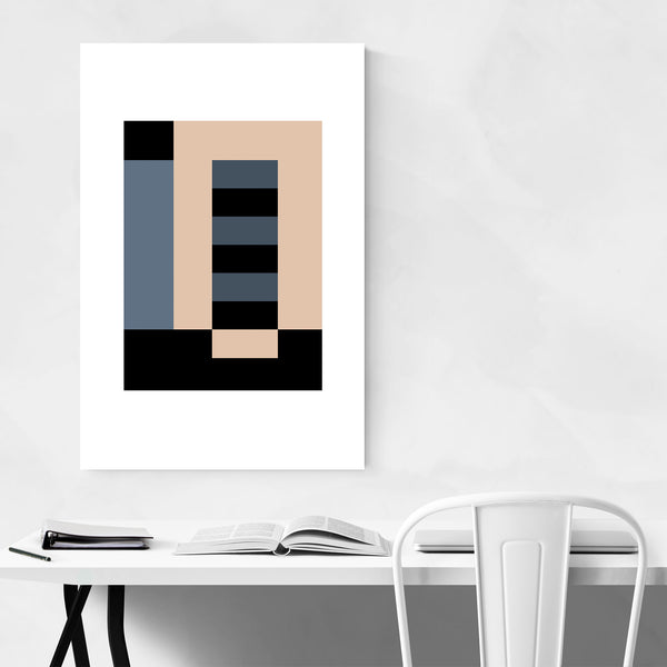 Abstract Geometric Illustration Art Print
