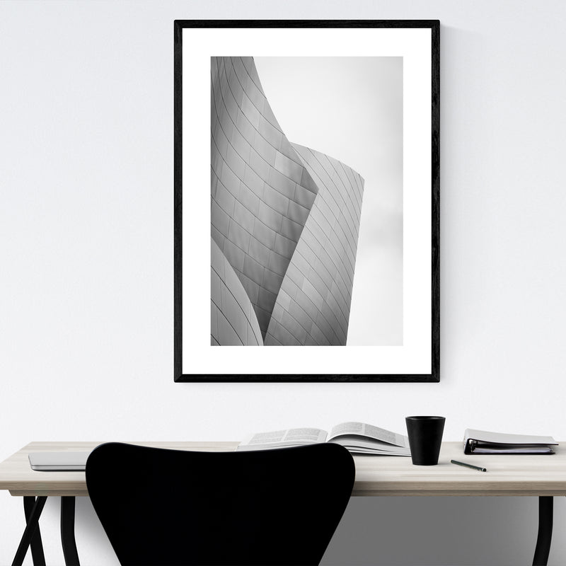 Modern Architecture Abstract Photo Framed Art Print