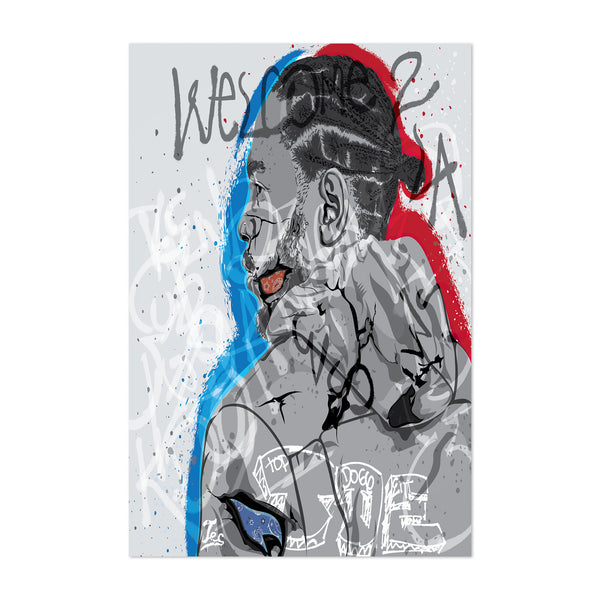 Kendrick Lamar Portrait Rap Music Art Print