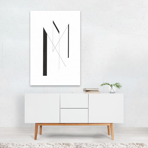 Abstract Minimal Music Line Drawing Art Print