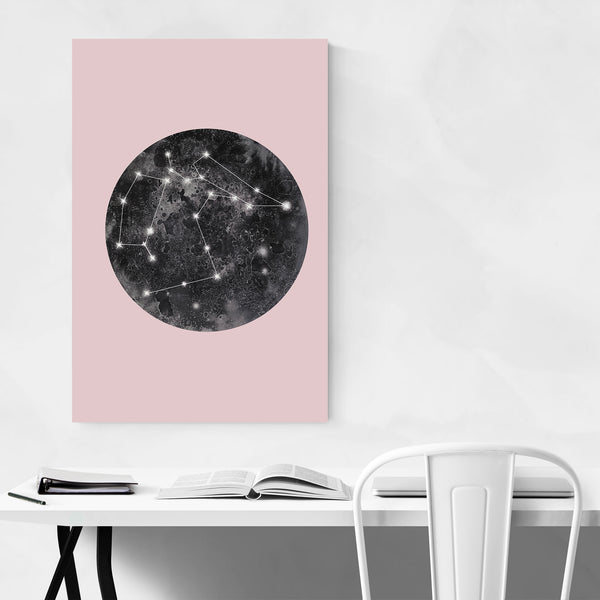 Abstract Constellation Moon Space Art Print