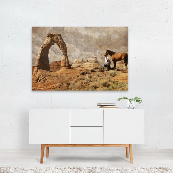 Utah Cowboy Desert Nature Photo Art Print