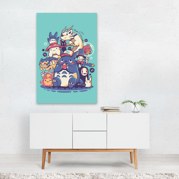 Friends Studio Ghibli Illustration Art Print