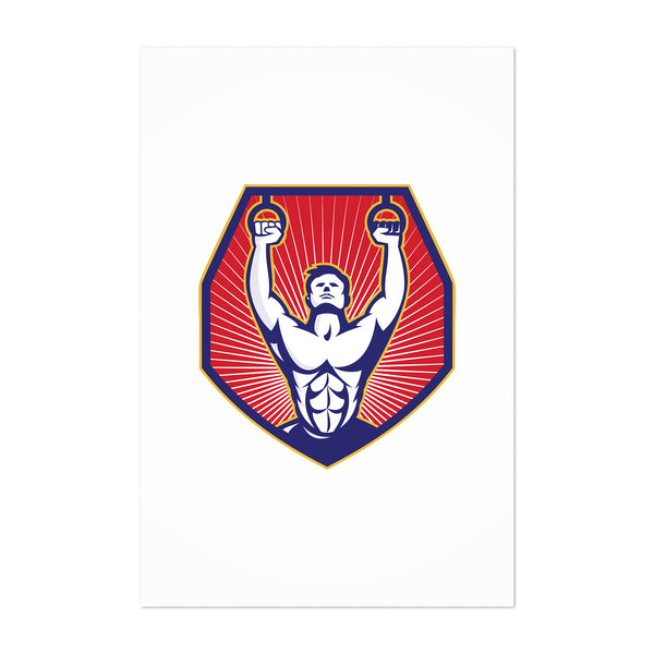 Crossfit Training Gift Retro Art Print