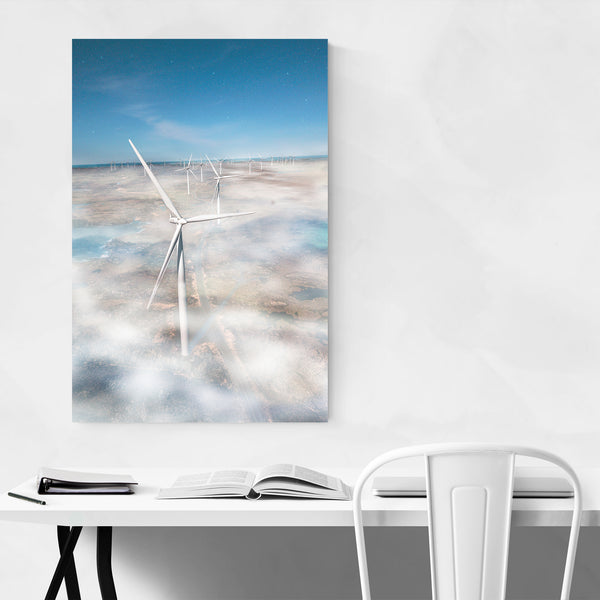 Windmill Farm Norway Photo Art Print