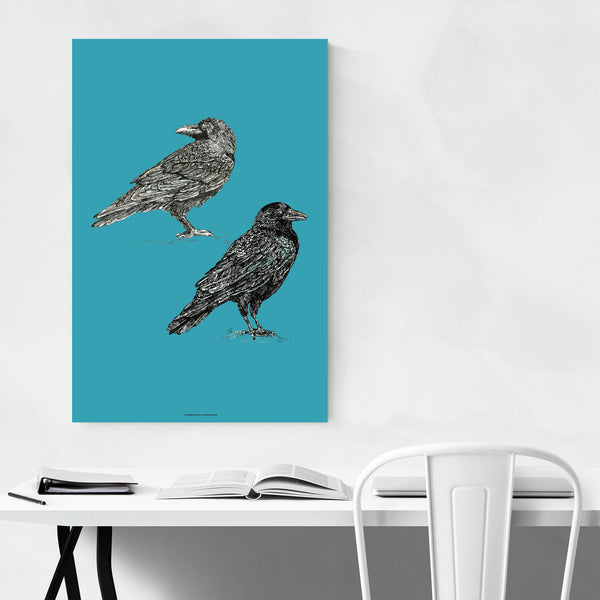 Crows Bird Animal Illustration Art Print