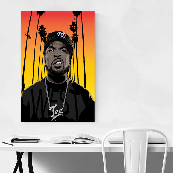 Ice Cube Portrait Hip Hop Music Art Print