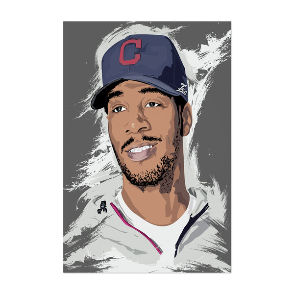 Kid Cudi Portrait Music Hip Hop Art Print