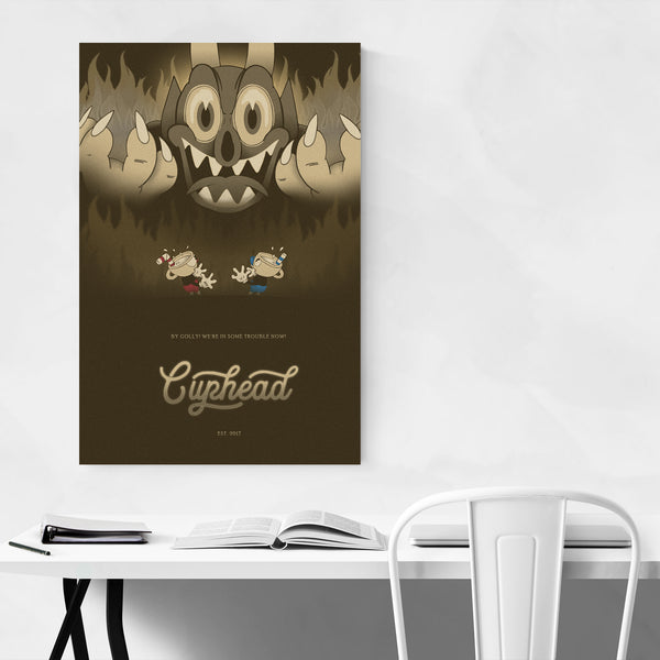 Cuphead Video Game Vintage Art Print