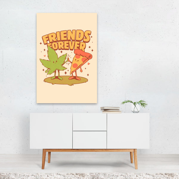 Friends Marijuana Illustration Art Print