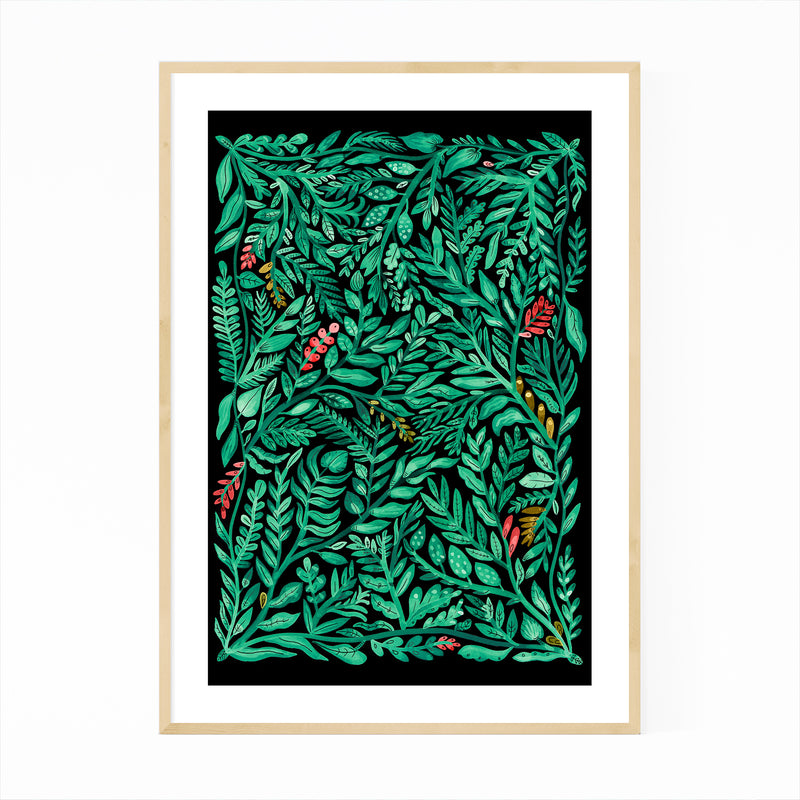 Floral Botanical Pattern Nature Framed Art Print