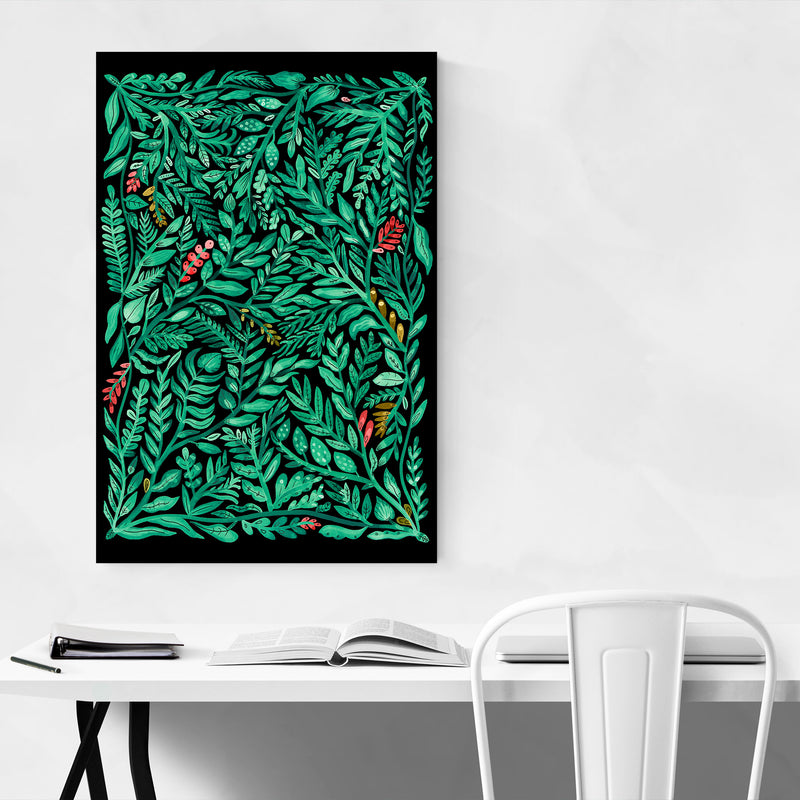 Floral Botanical Pattern Nature Art Print