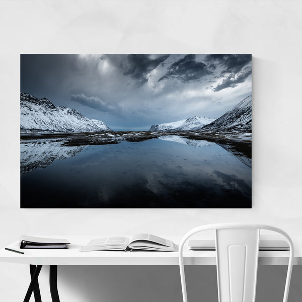 Norway Winter Mountains Nature Photo Art Print