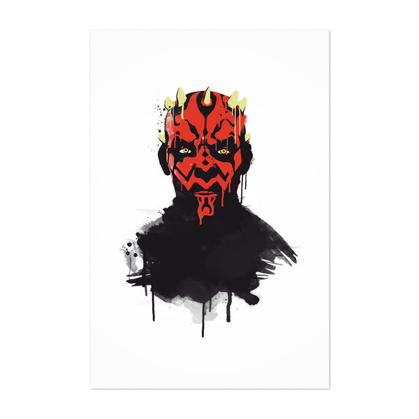 Darth Maul Star Wars Watercolor Art Print